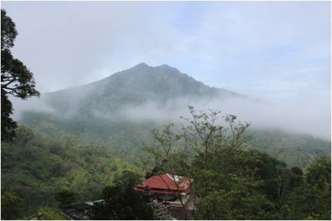The mist rolls in, down from Bunga, Mount Abang to distant Mount Agung Peak, Desa Ban.