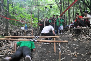 Climbing Under Bamboo